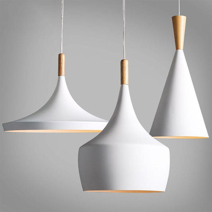Modern Lighting Wood Metal Light Chandelier Pendant Ceiling Fixture White 3550u Bjdvyyd