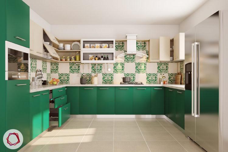 modular kitchen cabinets modular kitchen cabinet - wood finished lift up VRUETUO