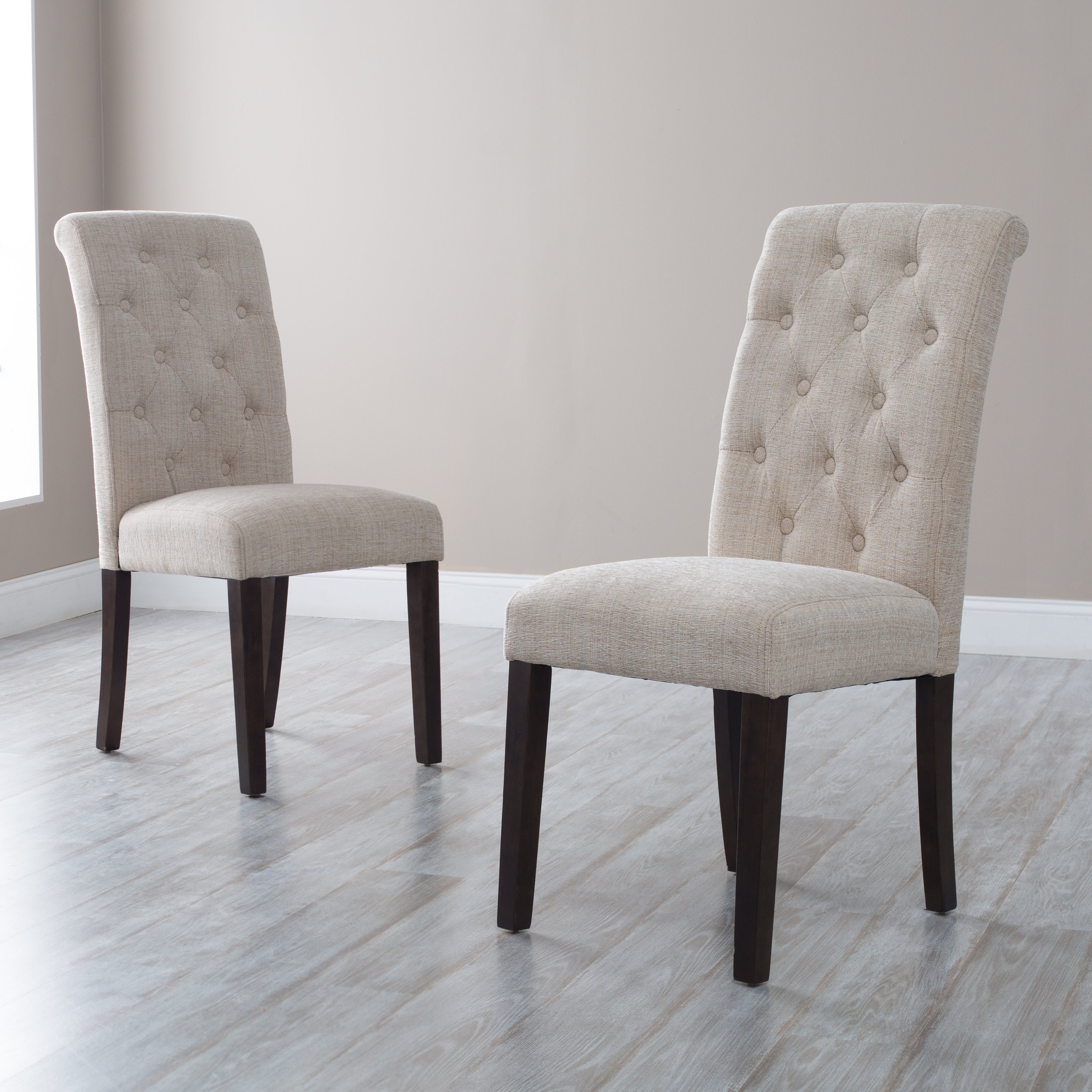 morgana tufted parsons dining chair - set of 2 | hayneedle JRMTDPE