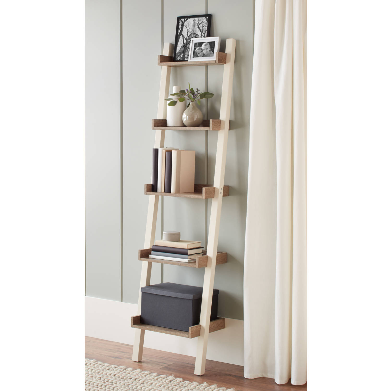 narrow bookcase better homes and gardens bedford 5 shelf narrow leaning bookcase, multiple  colors QZOQUIQ