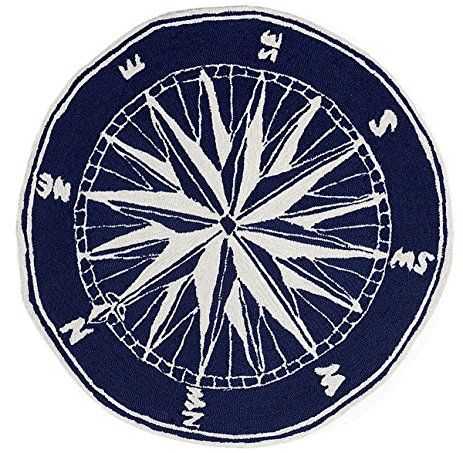nautical rugs area rugs - mariners compass rug - 5u0027 round - indoor outdoor YNUMRLA