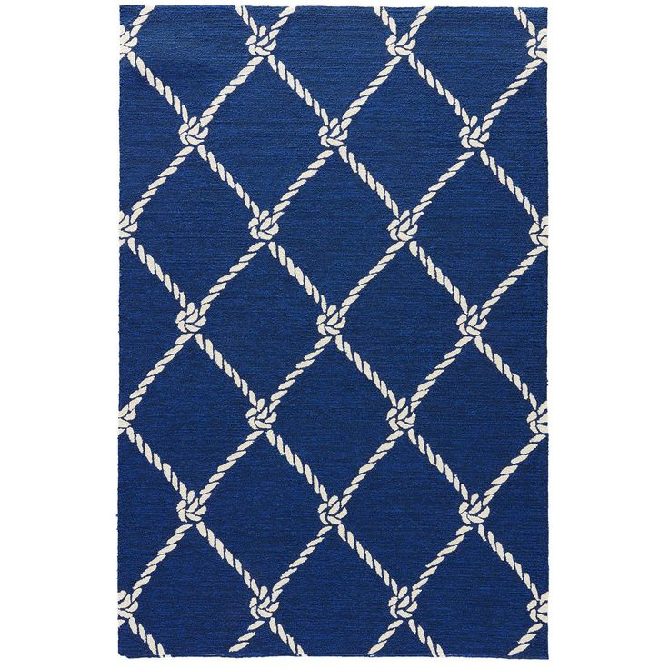nautical rugs juniper home angler indoor/ outdoor trellis blue/ white area rug (5u0027 x STHJDPC