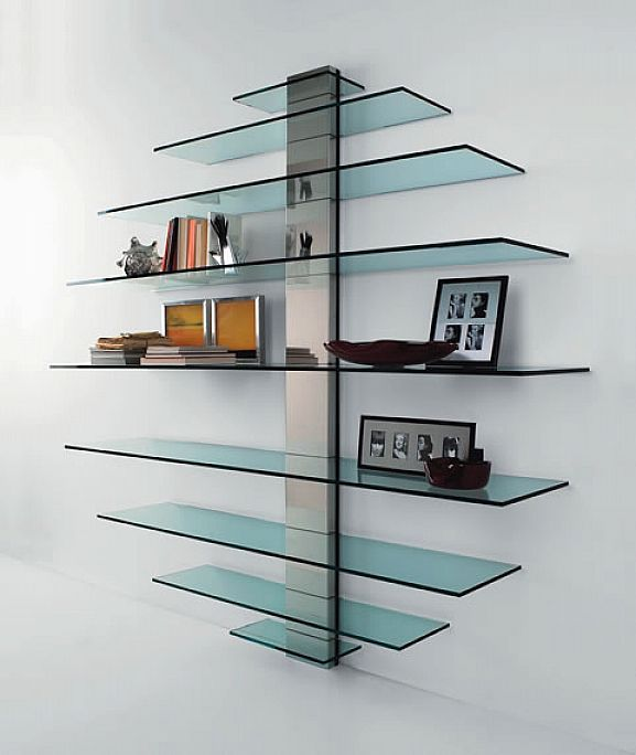 new trend floating glass shelves - home design and decor ideas ITYYGXD