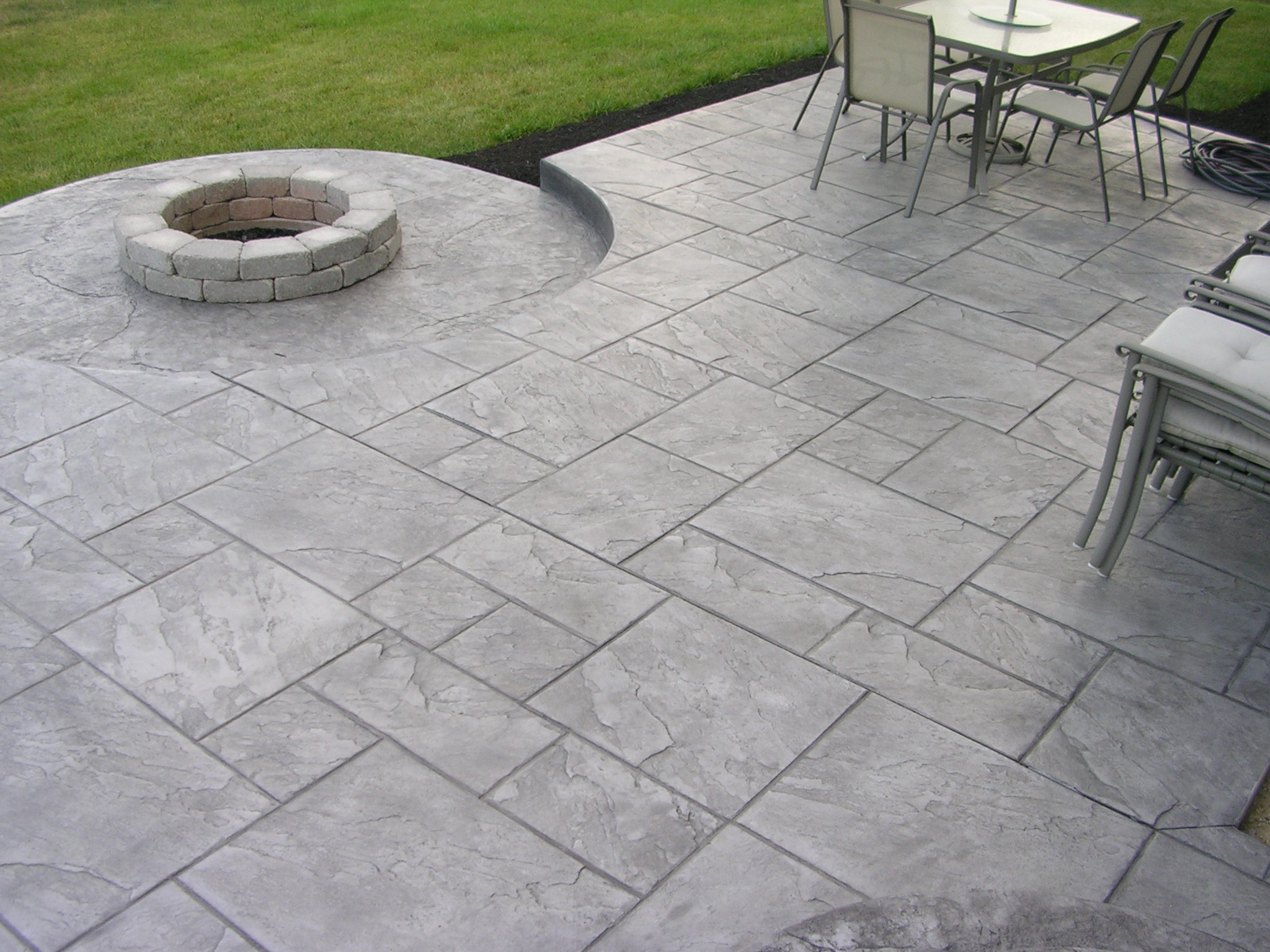 nice stamped concrete patio in small home interior ideas SYUYFLN