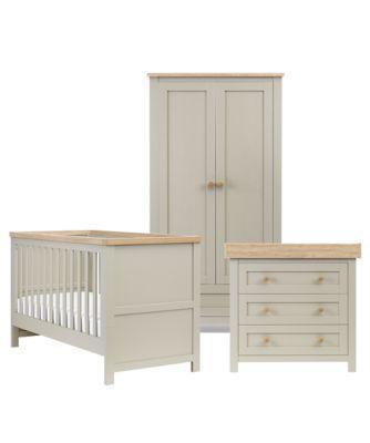 nursery furniture sets mothercare lulworth 3 piece nursery furniture set - grey DBUMGLI