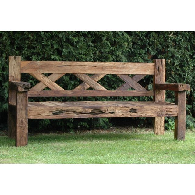 outdoor benches rustic garden bench: reclaimed teak rustic bench XVOZBJB