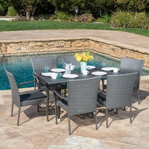 outdoor dining set marissa outdoor 7 piece dining set DDTBLYE