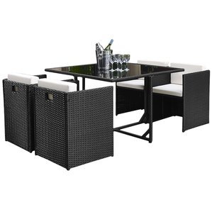 outdoor dining set modern outdoor dining sets | allmodern GUFPCIZ