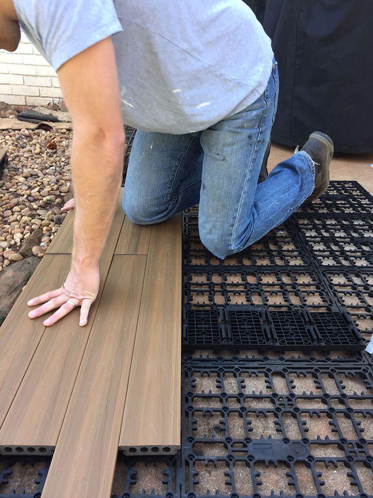 outdoor flooring how to lay deck flooring on a concrete patio ANZCCYO