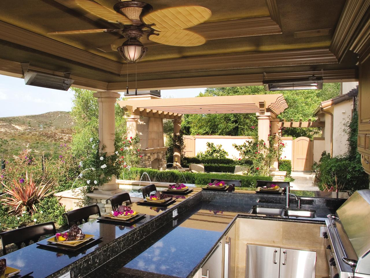 outdoor kitchen countertops options FAFXZSC