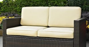 outdoor loveseat belton loveseat with cushions LHKIIJQ