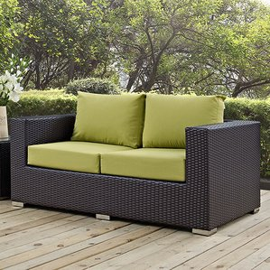 outdoor loveseat provencher patio loveseat with cushions QHNDUPC
