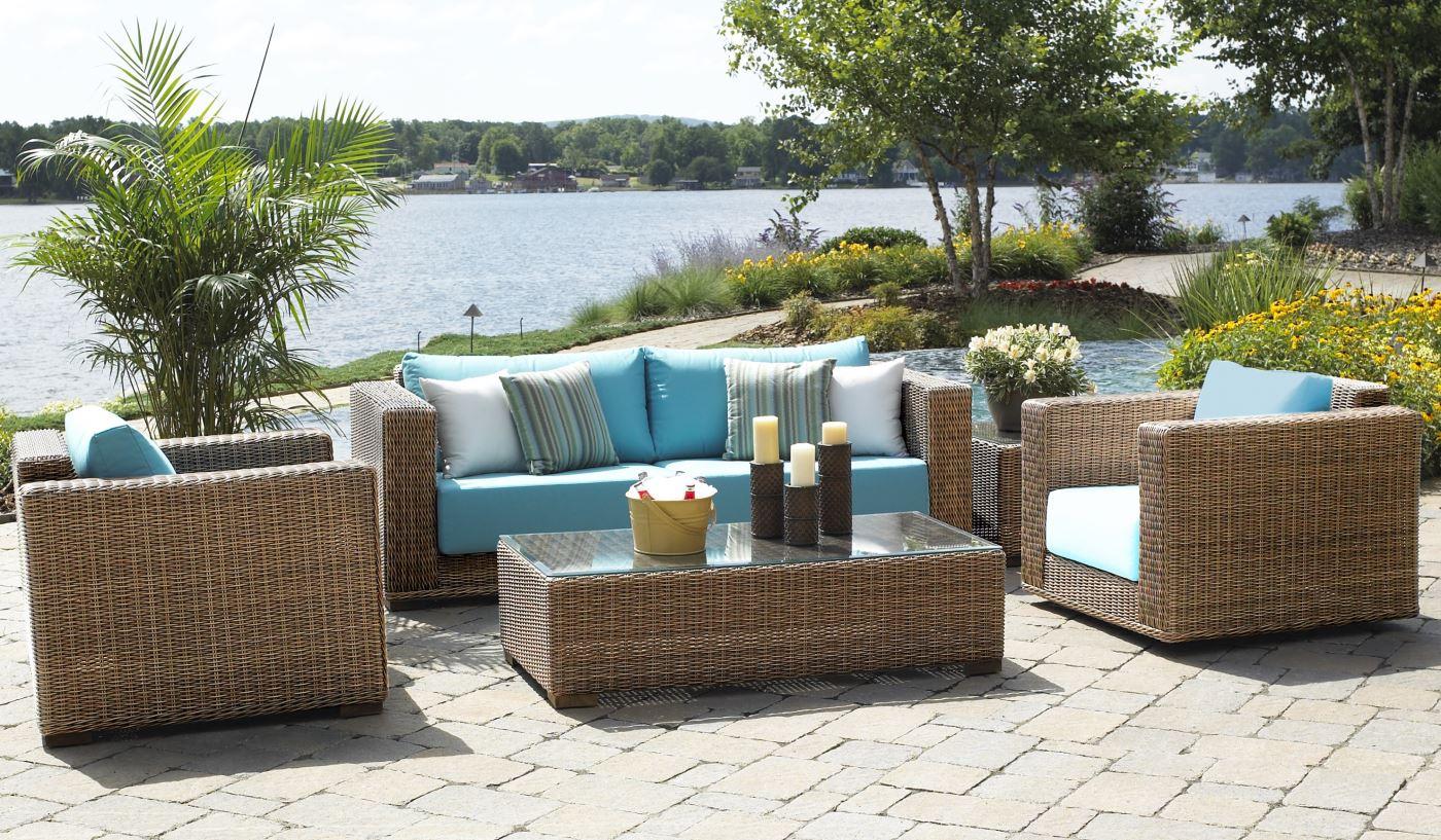 outdoor patio wicker furniture | santa barbara LSYDFHR