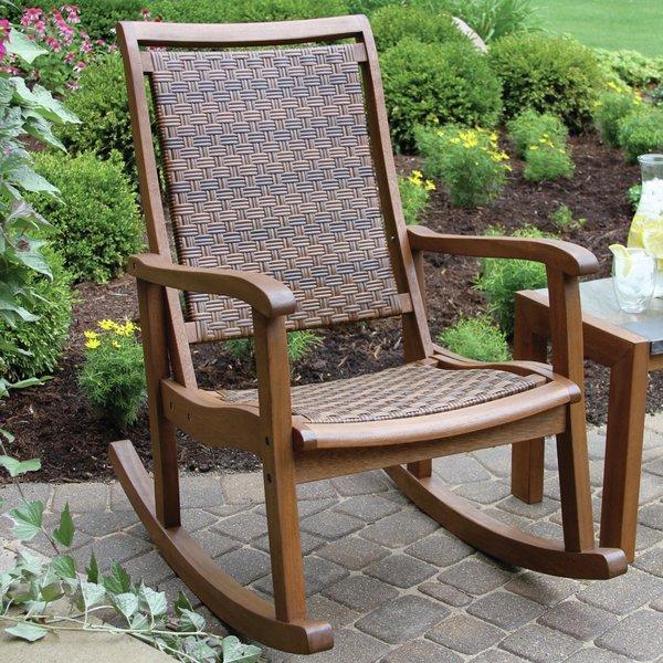 outdoor rocking chair bay isle home howe rocking chair u0026 reviews | wayfair OMVFAUL