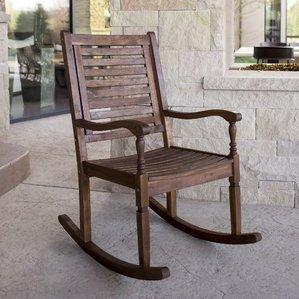 outdoor rocking chair imene solid acacia wood patio rocking chair BLJOAIN