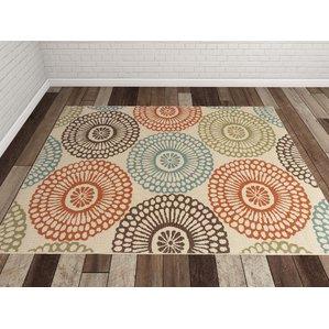 outdoor rugs douane orange/brown area rug FBXYWSH