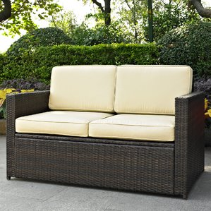 outdoor sofa belton loveseat with cushions DRIXHZF