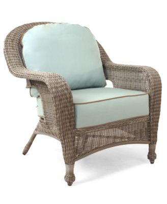 outdoor wicker chairs sandy cove wicker outdoor club chair, created for macyu0027s TVOCRPP