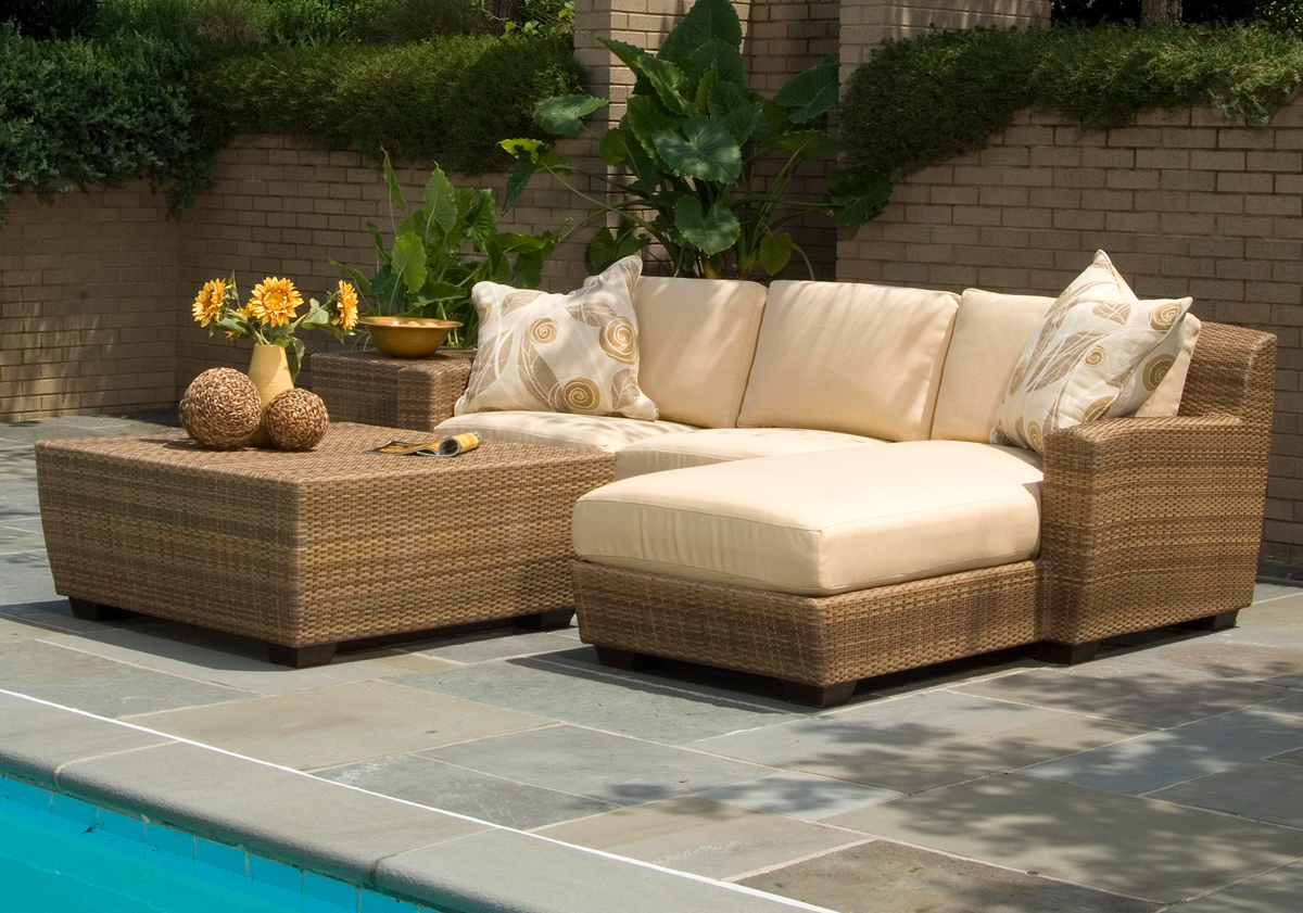 outdoor wicker furniture in a variety of styles from patio productions BPYPOGU