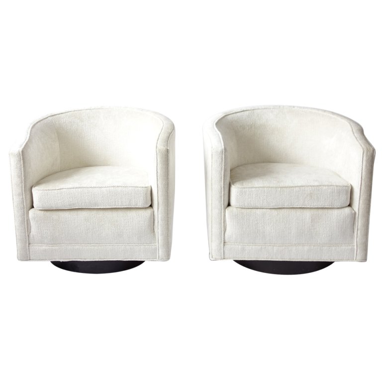 pair of swivel chairs by edward wormley for dunbar 1 IUIQBYY