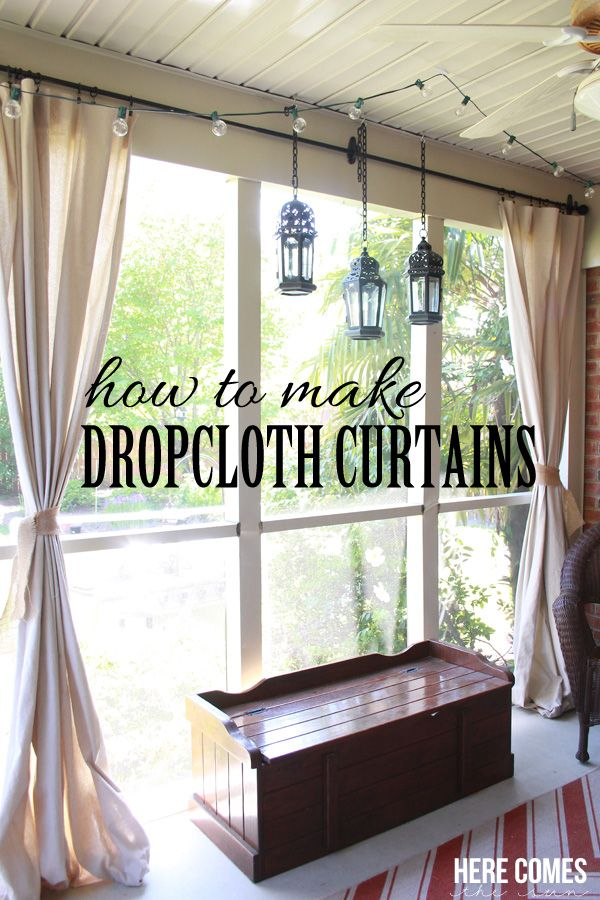 patio curtains drop cloth porch curtains EPYFDLL