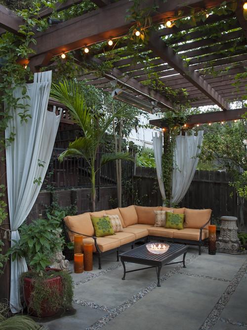 patio curtains HUKDOHJ