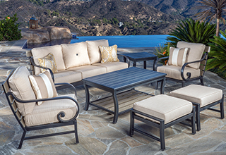 patio furniture collections · seating sets VHFDQFM