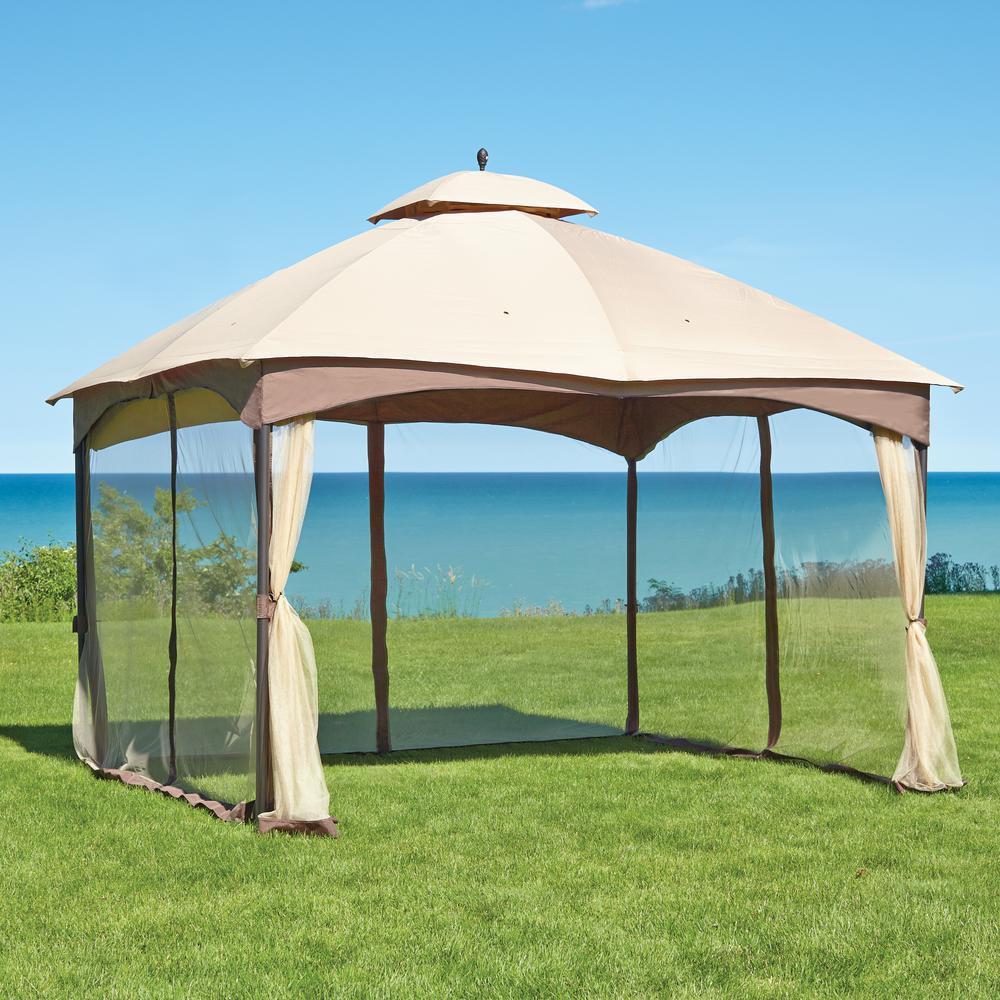 patio gazebo double roof gazebo ADLIEOZ