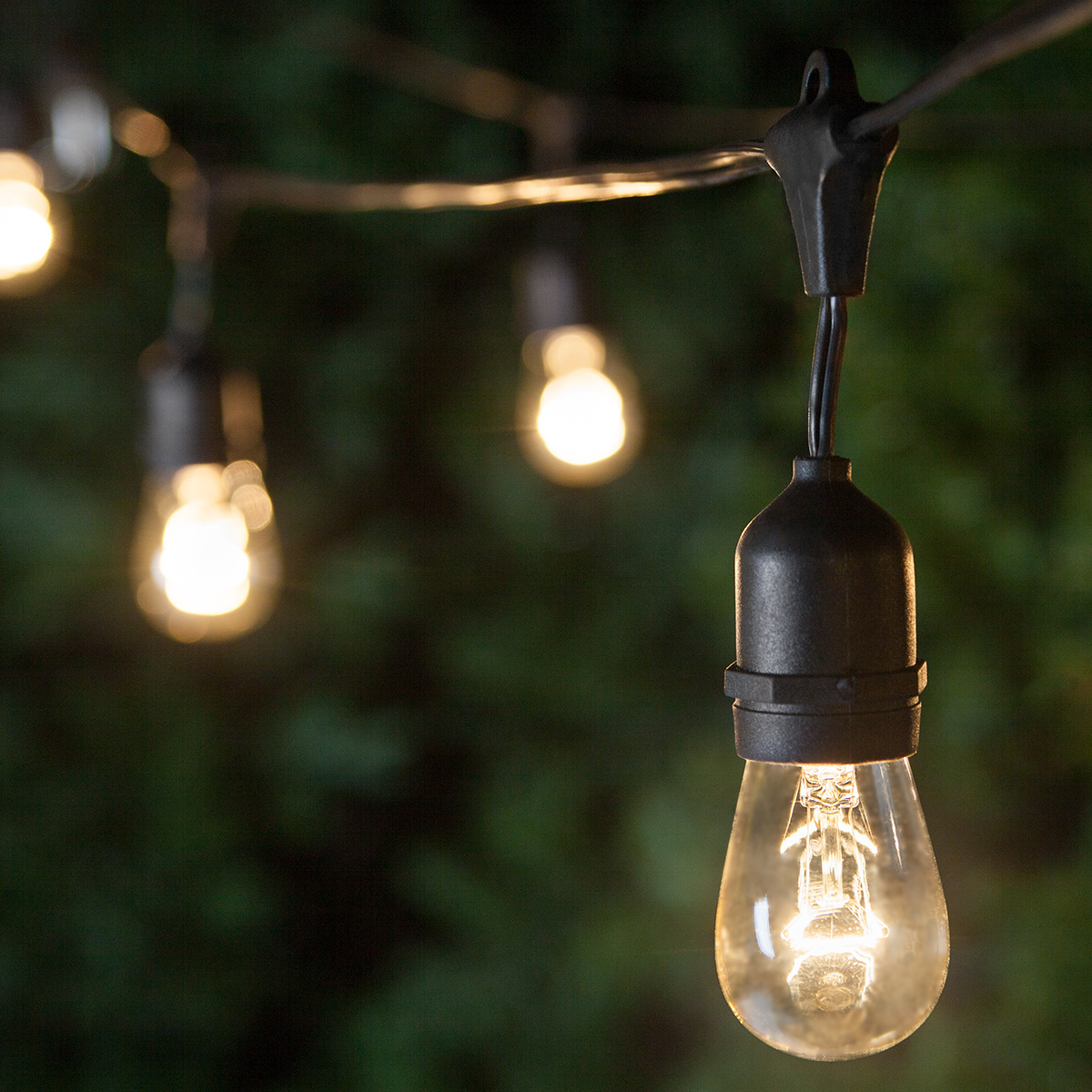 patio lights - commercial clear patio string lights, 24 s14 e26 bulbs black AFLYPPA