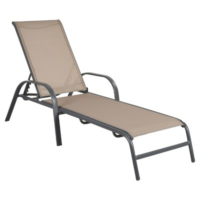 patio lounge chairs stack sling patio lounge chair tan - room essentials™ TAVVOXU