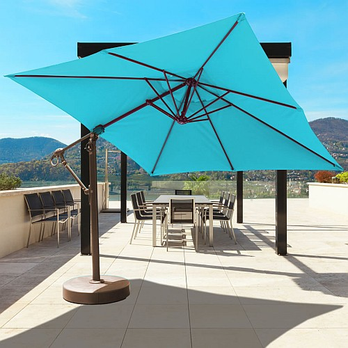 patio umbrellas 10u0027 offset patio umbrella LVTJZSK