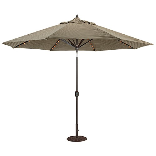 patio umbrellas 11u0027 lighted patio umbrella automatic til ACPIJMZ