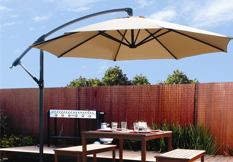 patio umbrellas patio 10u0027 hanging umbrella off set outdoor parasol, 4 colors BKHMOKN