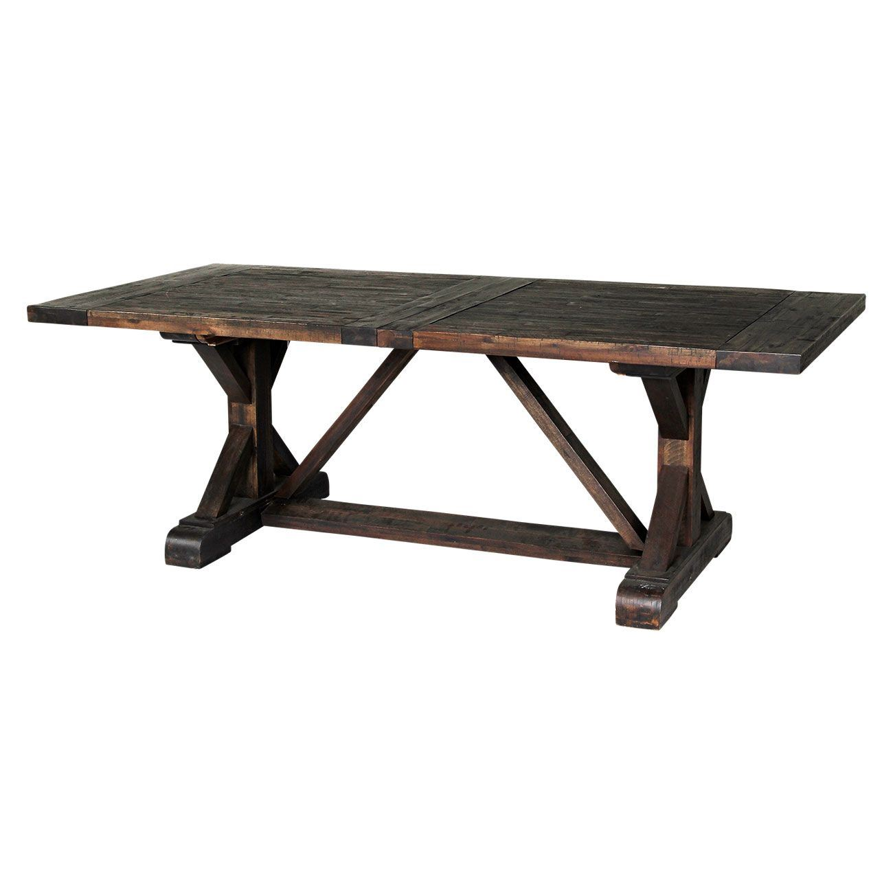 picture of cameron charcoal trestle table picture of cameron charcoal trestle  table GLBRRXH