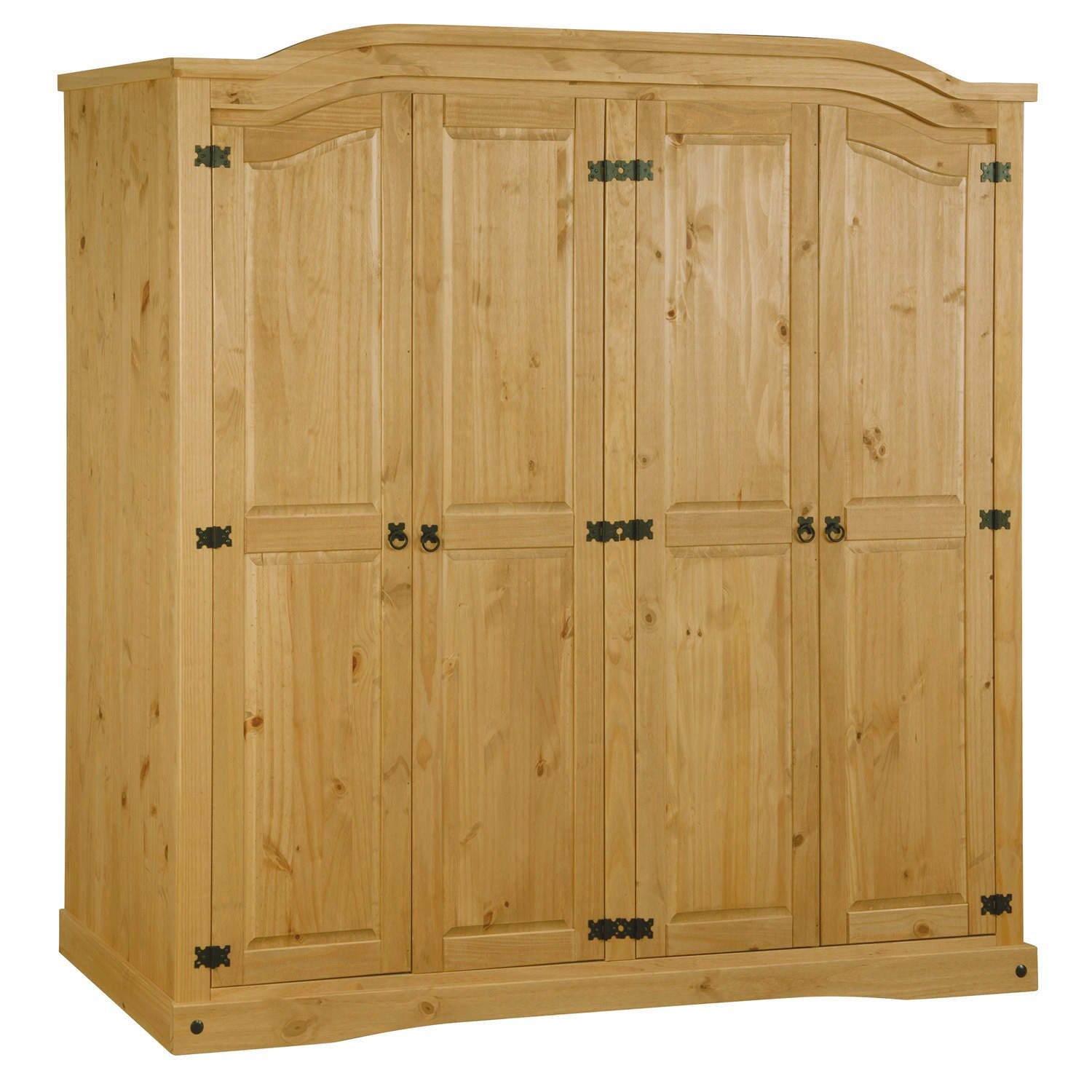 pine wardrobes corona mexican 4 door wardrobe in solid pine KOTVQGT
