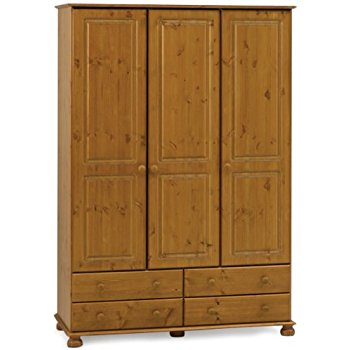 pine wardrobes steens richmond 3 door pine wardrobe HZTKHDV