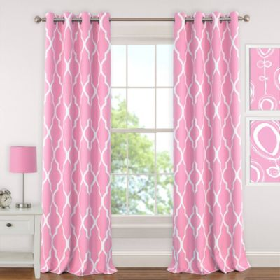 pink curtains elrene emery 63-inch room-darkening grommet top window curtain panel in  light pink DEVSIPH