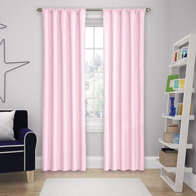 pink curtains solar shield microfiber rod pocket 84-inch room darkening window curtain  panel in TFGCCBG