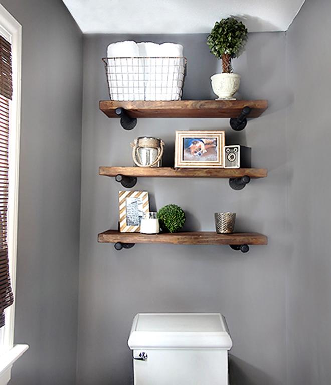 pipe bathroom shelves AANRFTS