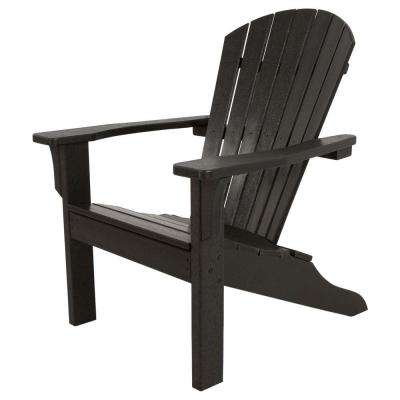 plastic adirondack chairs classics black shell back plastic patio adirondack chair ABJKMLH