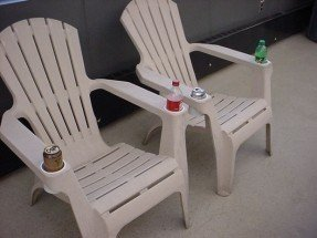 plastic adirondack chairs picture of add cup holders to your resin adirondack chair YKCKVZM