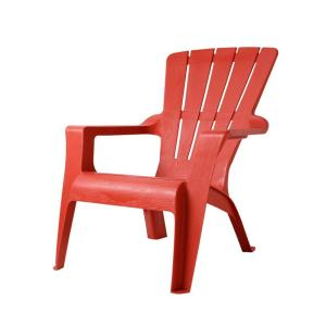 plastic adirondack chairs us leisure chili patio adirondack chair-167073 - the home depot RIASFVO