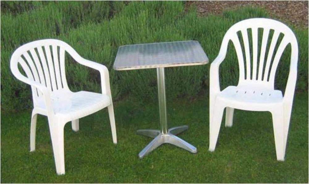 plastic garden furniture ... innovative white plastic outdoor benches garden furniture for hire  throughout essex FHNEWYA