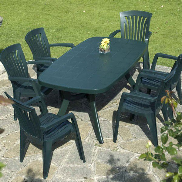 plastic garden furniture make a plastic garden table a choice for your garden - decorifusta PVVWMHE