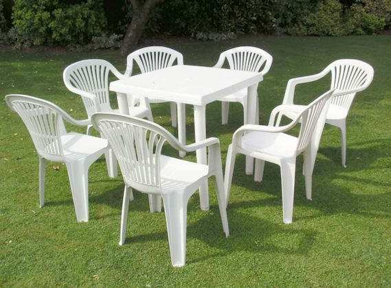 plastic garden furniture smaller sets are for lesser price and single chairs and tables are even AXSKEFY