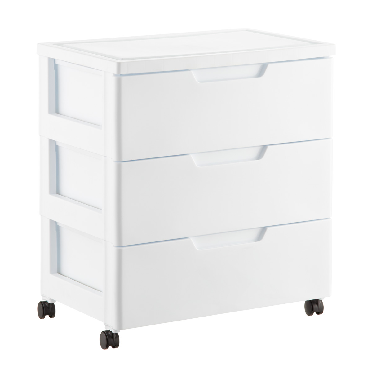 plastic storage drawers white 3-drawer premium plastic storage chest with wheels ... IGDPBNZ