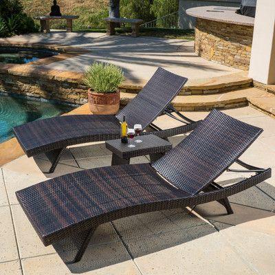 pool furniture found it at wayfair - halulu 3 piece chaise lounge set AQOPKGO