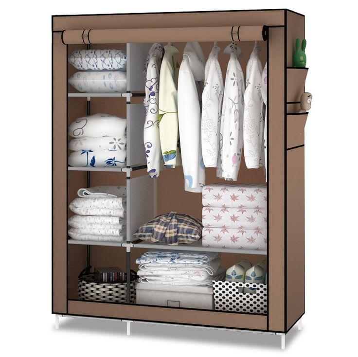 portable wardrobe closet canvas clothes storage CBVACEV