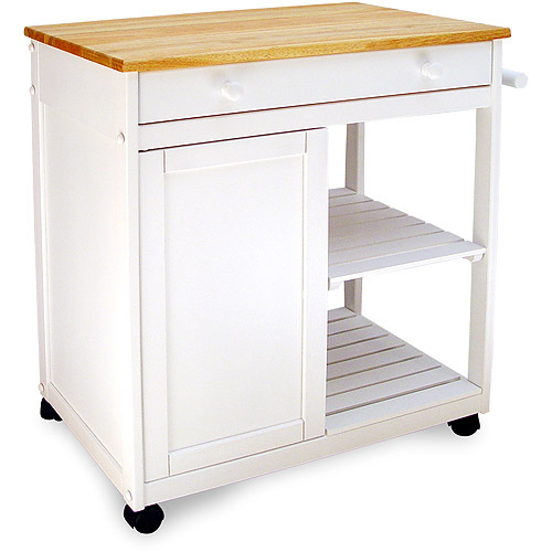 preston hollow kitchen cart, white MSKQLZZ