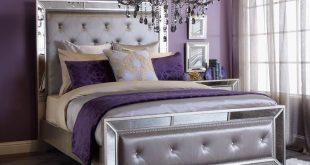 purple bedroom regal retreat. click to get the look! EMCBNDH